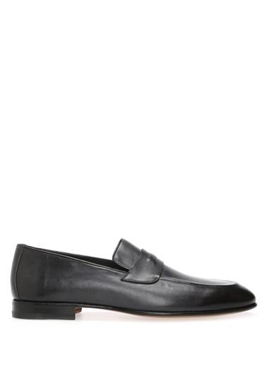 Santoni %100 Deri Loafer Ayakkabı Gri